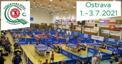 ITTF Czech Para Open 2021 – Jiri Danek memorial