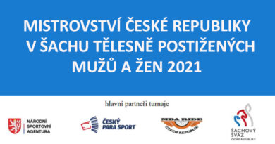 MISTROVSTVÍ ČESKÉ REPUBLIKY  V ŠACHU TĚLESNĚ POSTIŽENÝCH MUŽŮ A ŽEN 2021